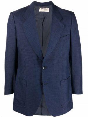 Однобортный пиджак 1970-х годов A.N.G.E.L.O. Vintage Cult. Цвет: синий