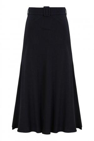 Черная юбка миди с поясом MSGM. Цвет: черный