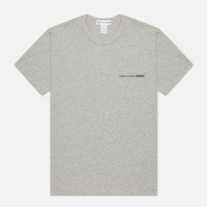 Мужская футболка Front Logo Comme des Garcons SHIRT. Цвет: серый