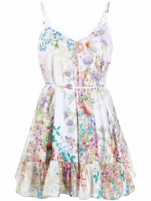 Платье с принтом Charo Ruiz Ibiza. Цвет: белый