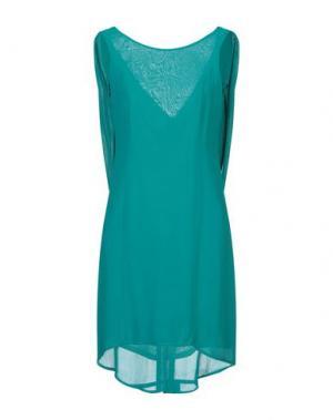 Короткое платье ANIYE BY. Цвет: цвет морской волны