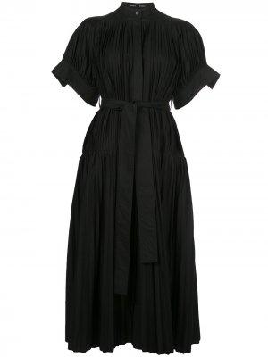 Плиссированное вечернее платье с поясом Proenza Schouler. Цвет: синий