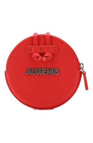 Кожаный кошелек Le Pitchou Jacquemus. Цвет: красный