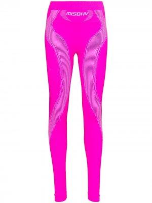 Спортивные легинсы MISBHV. Цвет: розовый