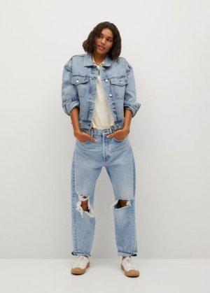 Джинсовая куртка с карманами - Rachel Mango. Цвет: синий средний
