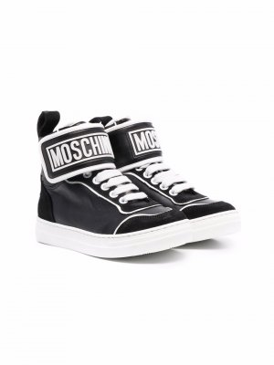 Высокие кроссовки Moschino Kids. Цвет: черный