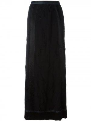 Текстурированная юбка макси Jean Paul Gaultier Pre-Owned. Цвет: черный