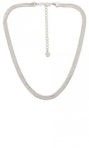 Ожерелье gia BaubleBar. Цвет: металлический серебряный