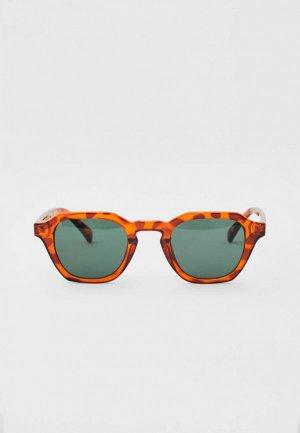 Очки солнцезащитные Pull&Bear. Цвет: коричневый