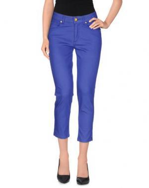Джинсовые брюки-капри MARANI JEANS. Цвет: ярко-синий