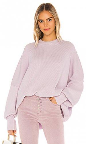 Пуловер easy street Free People. Цвет: бледно-лиловый