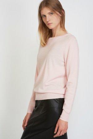 Джемпер с длинным рукавом из фактурного трикотажа VASSA&Co. Цвет: розовый