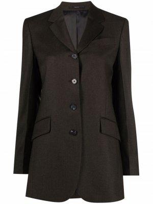 Single-breasted wool blazer PAUL SMITH. Цвет: зеленый