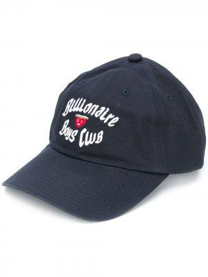 Бейсболка с вышивкой Billionaire Boys Club. Цвет: синий