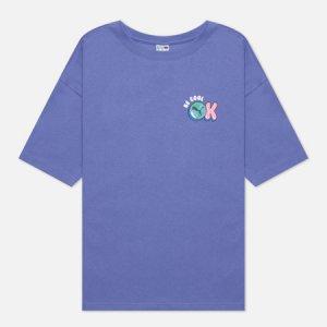 Женская футболка Downtown Graphic Puma. Цвет: фиолетовый
