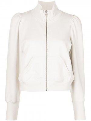 Куртка с высоким воротником Veronica Beard. Цвет: нейтральные цвета