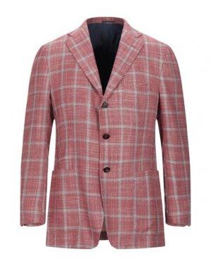 Пиджак KITON. Цвет: кирпично-красный