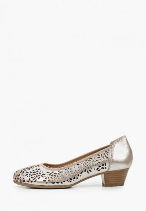Туфли Caprice Увеличенная полнота, Comfort. Цвет: серебряный
