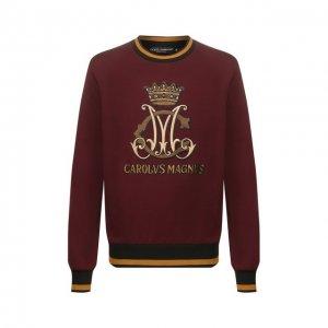 Хлопковый свитшот Dolce & Gabbana. Цвет: красный