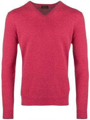 Тонкий вязаный свитер с V-образным вырезом Altea