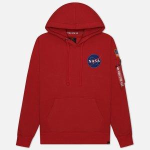 Мужская толстовка NASA Space Shuttle Hoody Alpha Industries. Цвет: красный