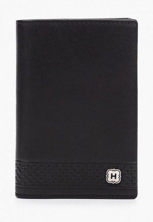 Обложка для паспорта Henderson. Цвет: черный