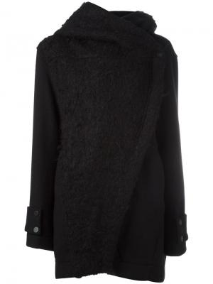 Пальто с запахом Ilaria Nistri. Цвет: чёрный