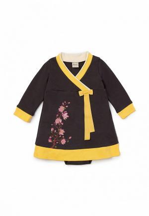 Платье Ёмаё. Цвет: серый