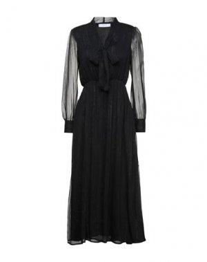 Платье длиной 3/4 KAOS. Цвет: черный
