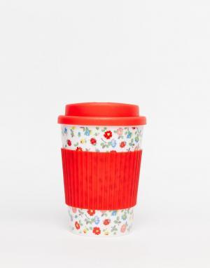 Дорожная чашка Ladybird Cath Kidston. Цвет: белый
