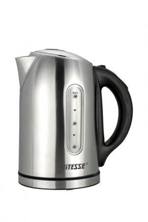 Чайник электрический 1,7л Vitesse. Цвет: серебряный, черный