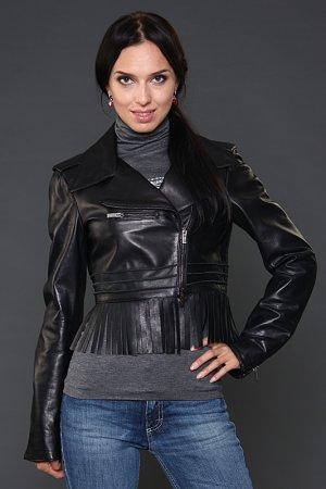 Куртка кожаная Blumarine. Цвет: черный