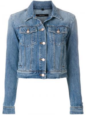 Укороченная джинсовая куртка J Brand. Цвет: синий