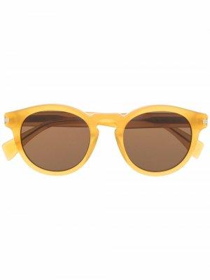Солнцезащитные очки в круглой оправе LANVIN. Цвет: желтый