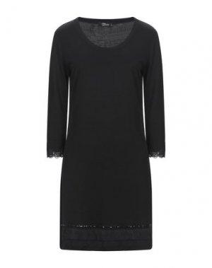 Короткое платье VDP COLLECTION. Цвет: черный