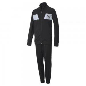 Детский спортивный костюм Poly Suit PUMA. Цвет: черный