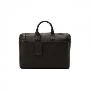 Кожаная сумка для ноутбука Serapian. Цвет: коричневый