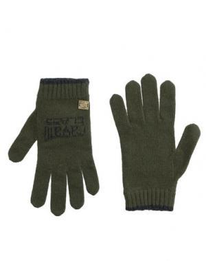 Перчатки CAVALLI CLASS. Цвет: зеленый-милитари