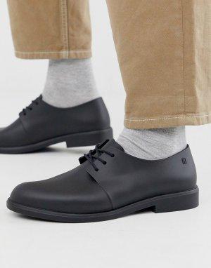 Черные туфли на шнуровке -Черный цвет Melissa