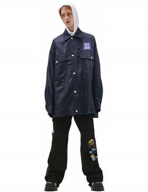 Джинсовая куртка оверсайз с логотипом Raf Simons