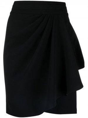 Юбка с драпировкой IRO. Цвет: черный