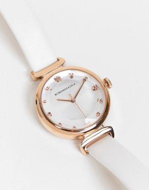 Часы с отделкой цвета розового золота BCBG Max Azria-Белый MaxAzria