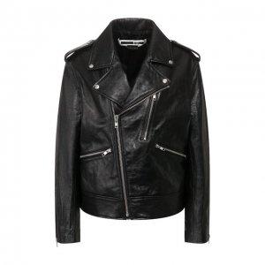 Кожаная куртка MCQ. Цвет: чёрный