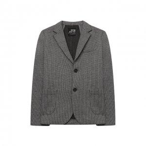 Хлопковый пиджак Paolo Pecora Milano. Цвет: серый