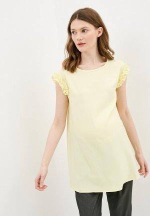 Блуза Fest. Цвет: желтый