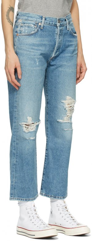 Blue Emery High-Rise Crop Jeans Citizens of Humanity. Цвет: wistful