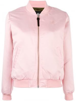 Classic bomber jacket Stussy. Цвет: розовый и фиолетовый