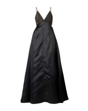 Длинное платье BRUNELLO CUCINELLI. Цвет: черный