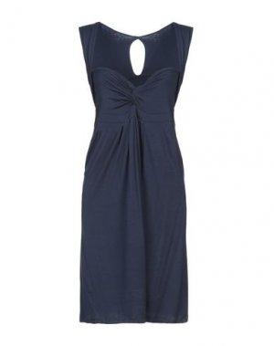 Платье до колена FRANCESCA FERRANTE. Цвет: темно-синий