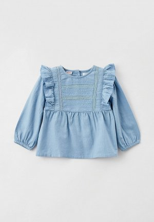 Блуза Mango Kids COLLIE. Цвет: голубой